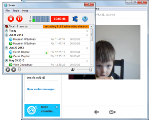 save skype video message