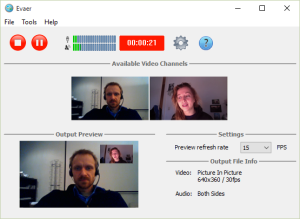 Preview the video while recording Skype video calls