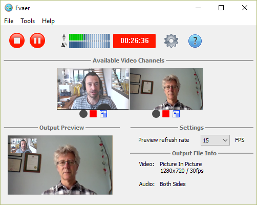 dynamically switch the video when recording Skype video calls