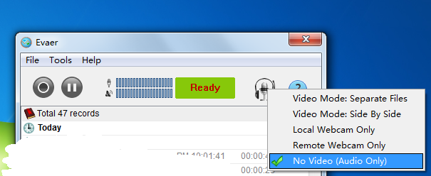 Only record Skype audio/voice